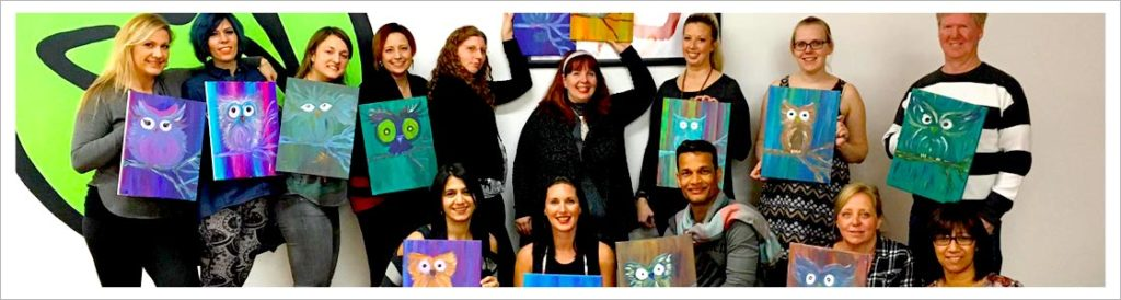 paint nights, paint with friends