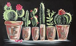 cacti painting