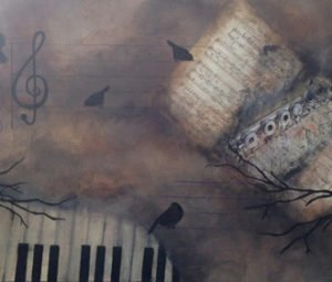 music themed painting art