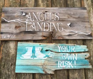 rustic sign, home decor, barnboard