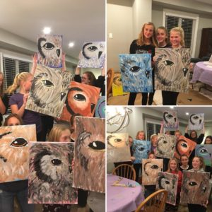 own paintings, paint night
