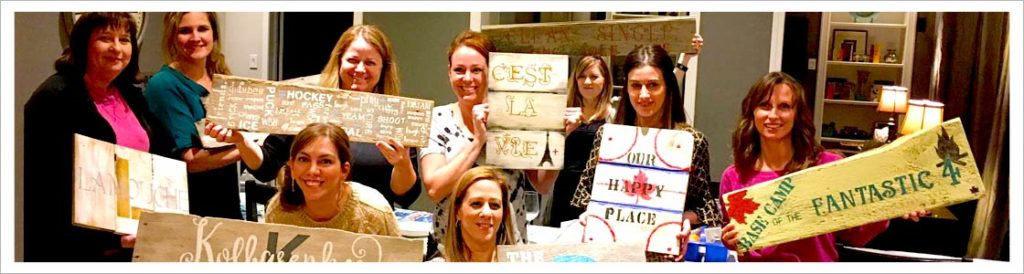 paint night, girls night, paint party